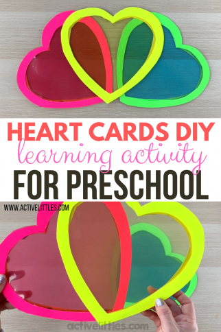 Play to Learn Heart Cards DIY Activity for Preschool