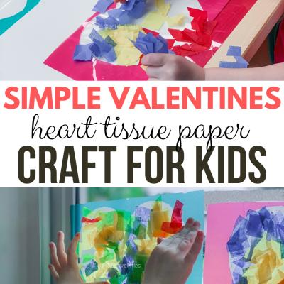 heart tissue paper craft for kids