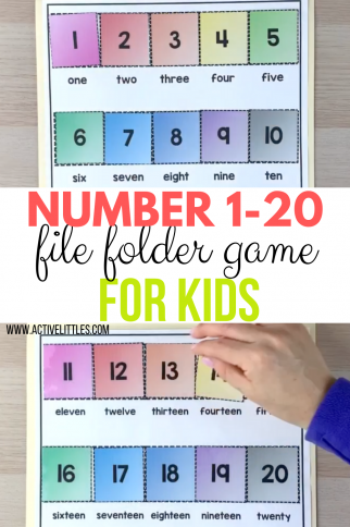 Color Matching File Folder Game – 110 Colors and words Printable