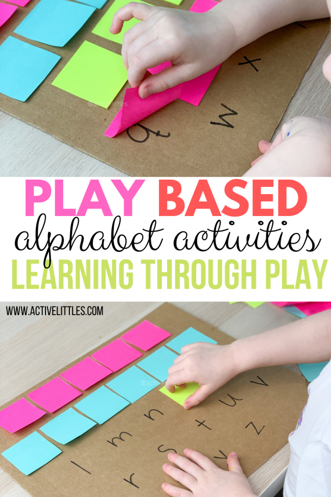 play to learn alphabet activities recycled play