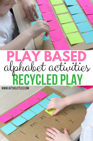 Play Based Alphabet Activities for Learning through Play