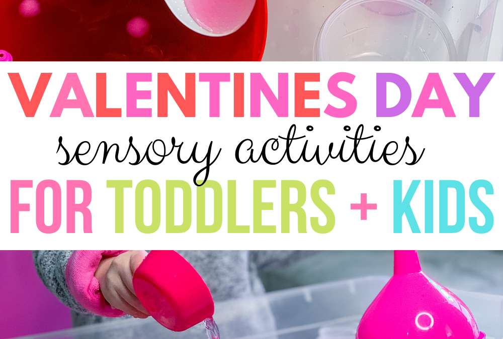 Simple Valentines Day Water Play for Kids