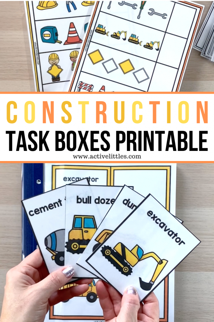task boxes construction printable