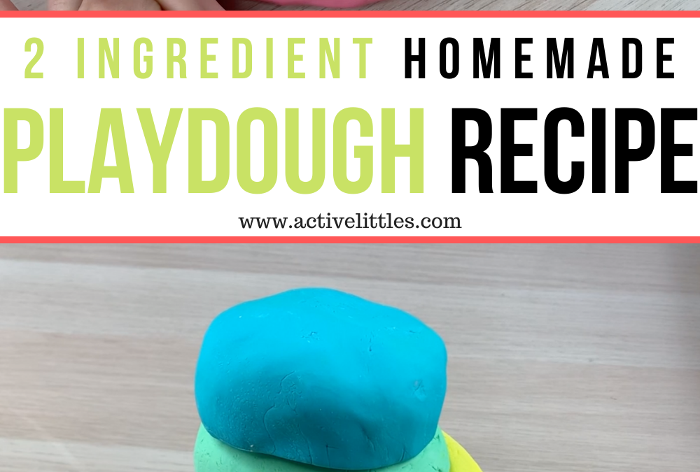 Easy and Silky Soft 2 Ingredient Play Dough