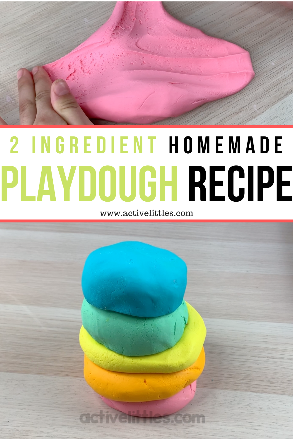 Easy And Silky Soft 2 Ingredient Play Dough Active Littles