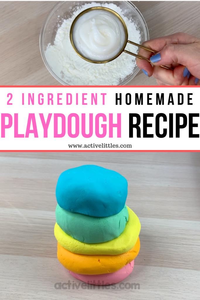 2 ingredient playdough recipe tutorial