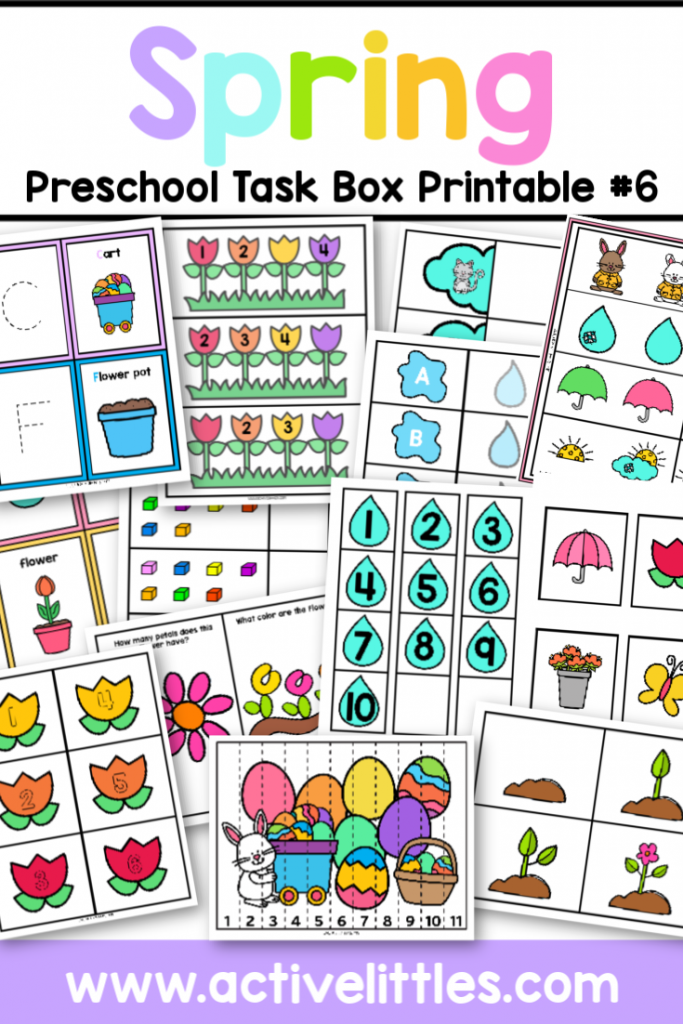 Spring Task Boxes 6 Printable - Active Littles