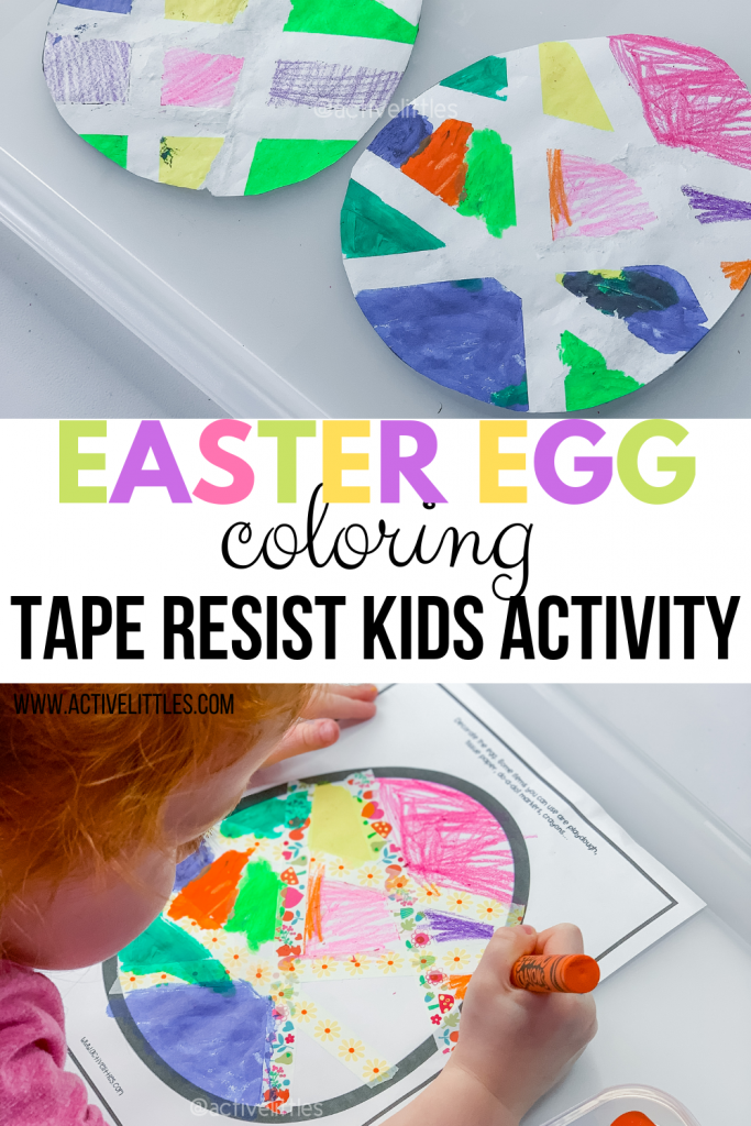 easter coloring tape resist activity