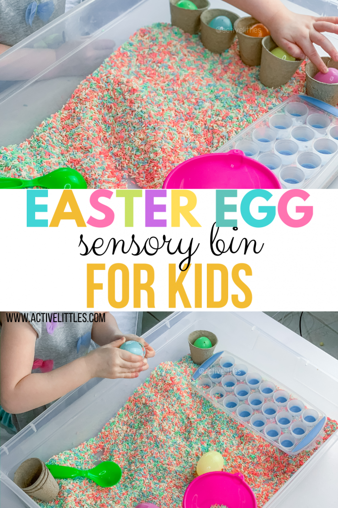 easter egg sensory play for kids