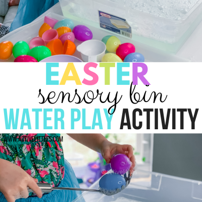 easter sensory bin water activity for kids