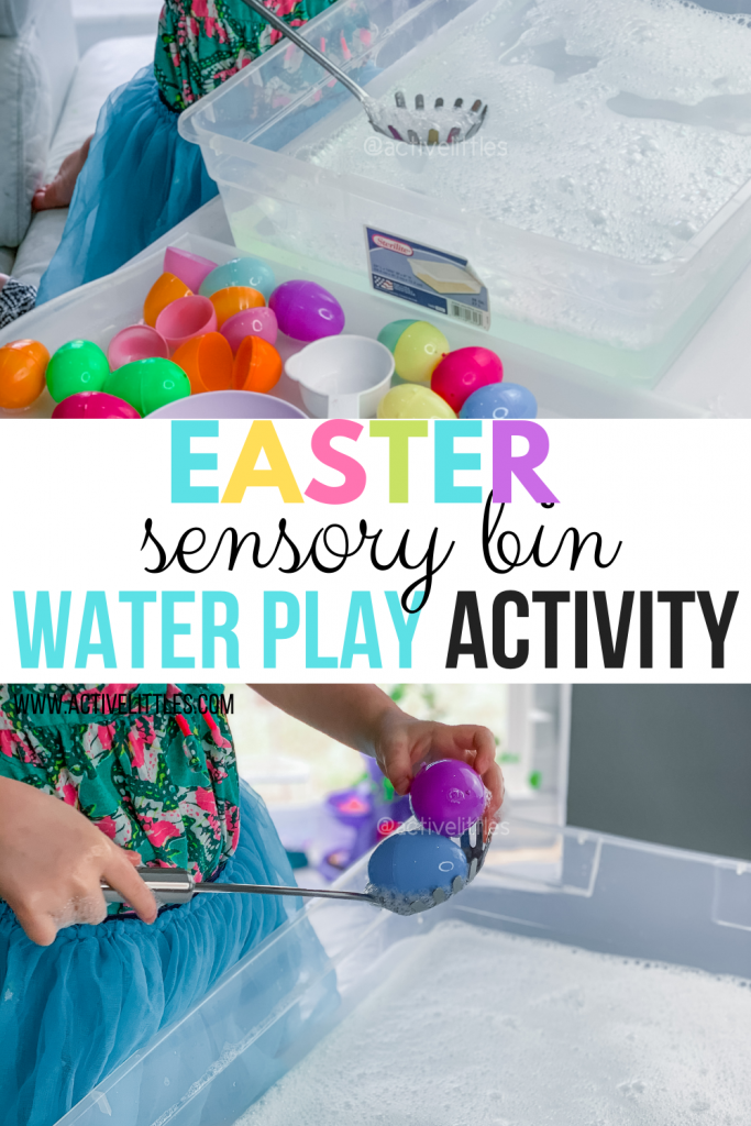 easter sensory bin water activity for kids