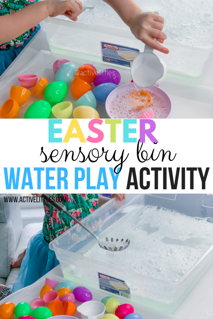 easter sensory play water play activity