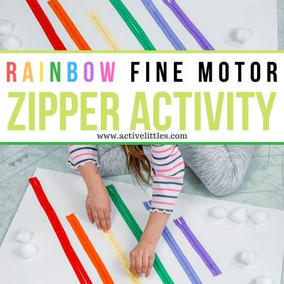 fine motor zipper activity board for preschool