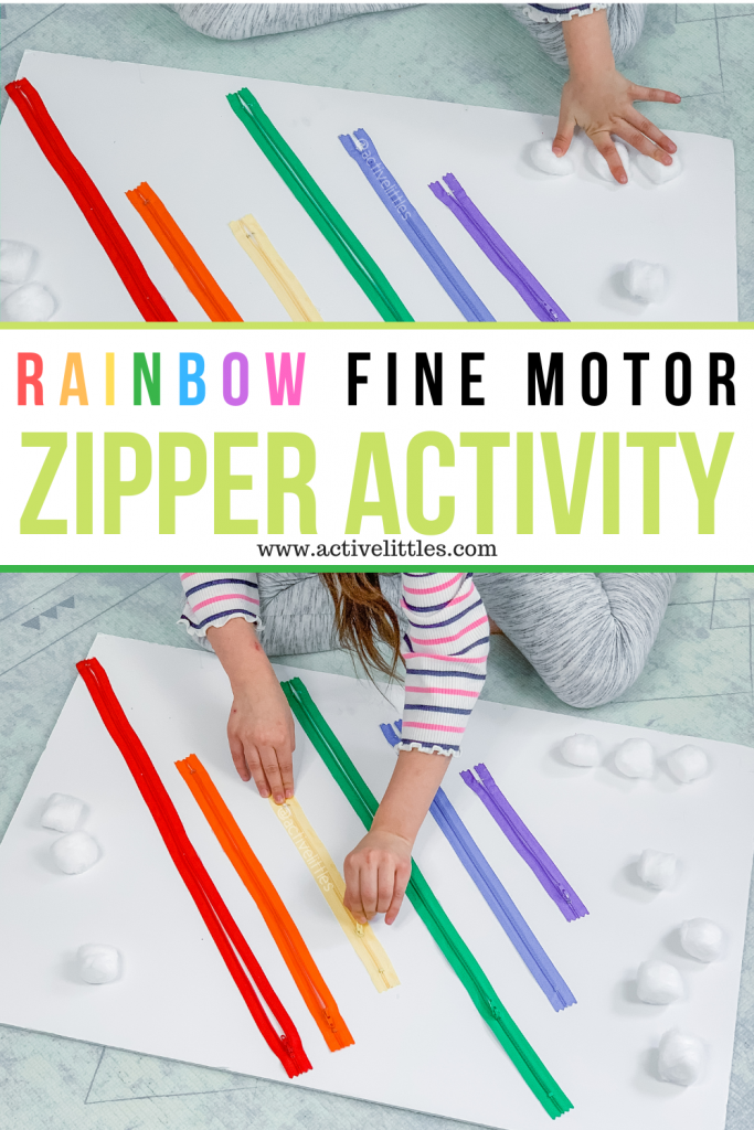 fine motor zipper activity board for preschool