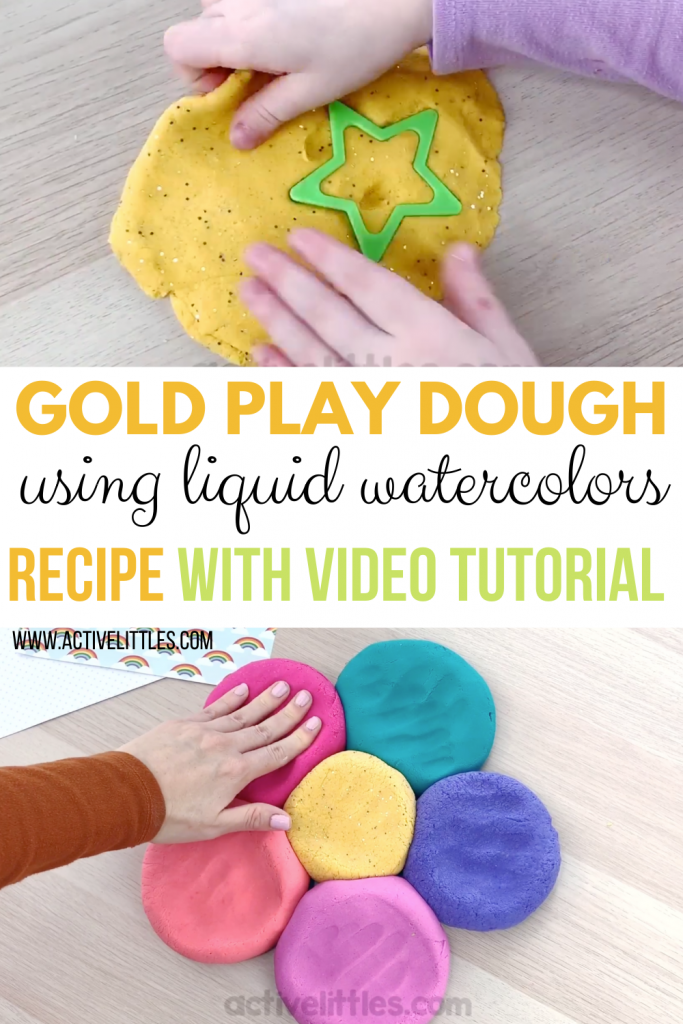 gold playdough recipe and tutorial