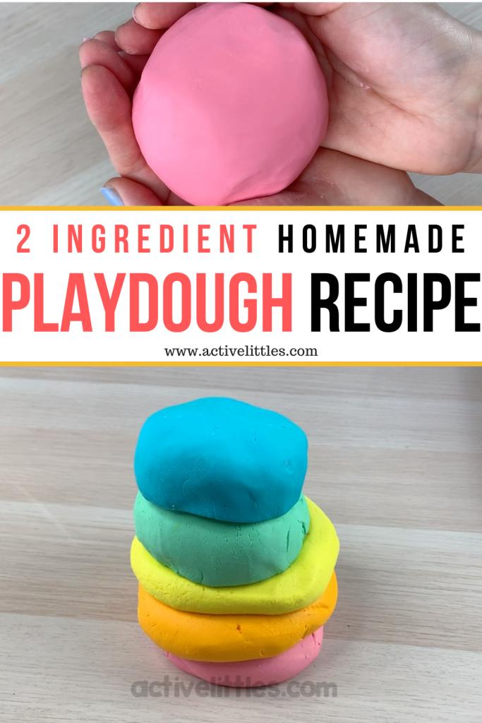 homemade playdough recipe 2 ingredients