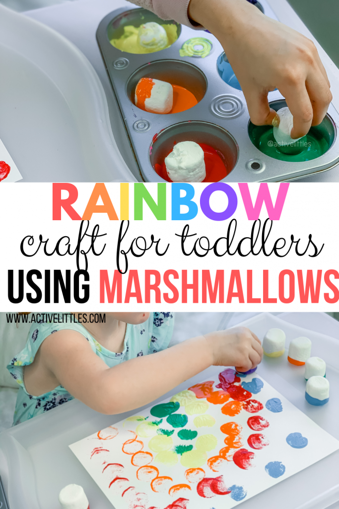 kids craft using marshmallows
