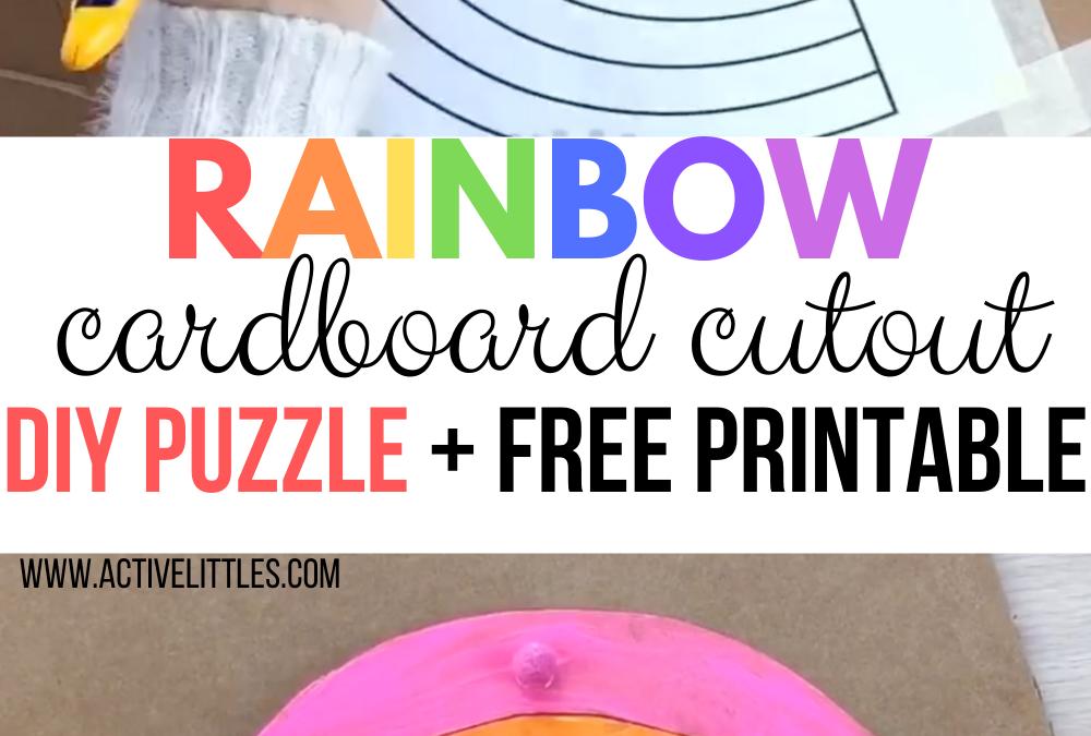 Cardboard Cutout Rainbow DIY