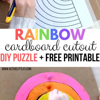 montesori cardboard cuout puzzle activity