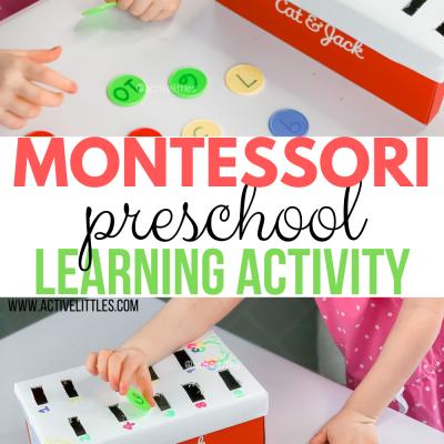 montessori preschool learning activity