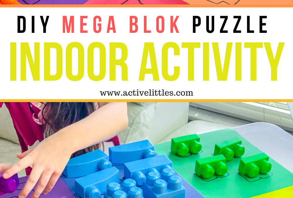 Easy Mega Blok Puzzle Play to Learn Activity