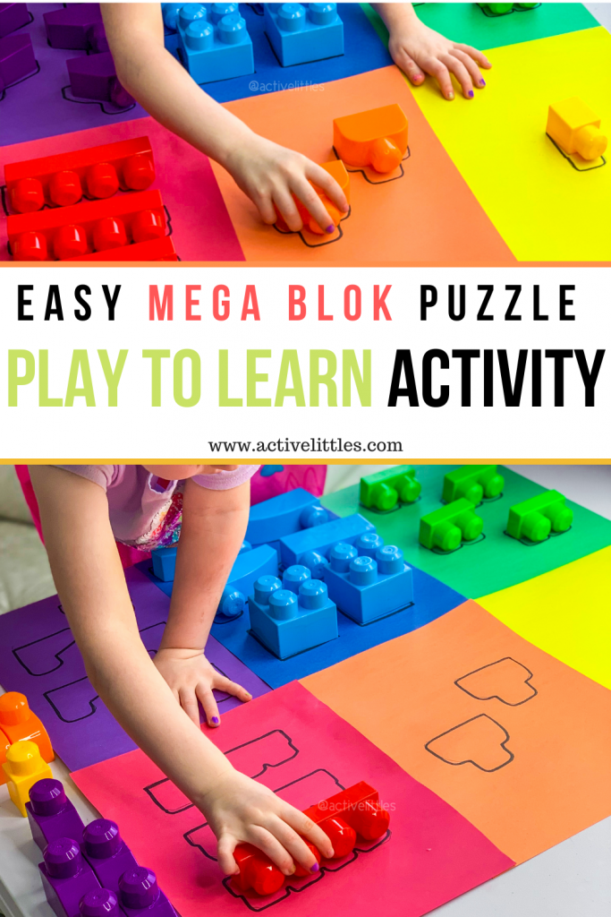 play to learn puzzle diy activity