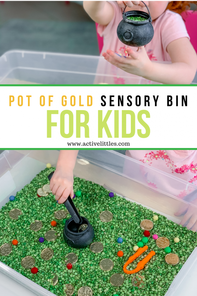 pot of gold sensory play