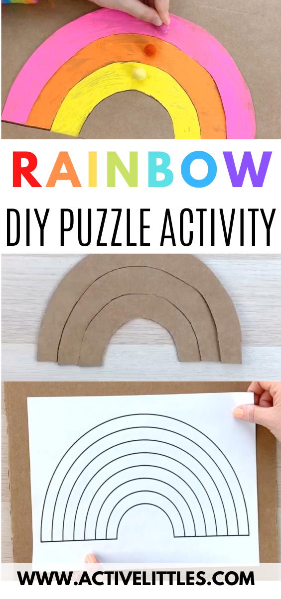rainbow cardboard cutout craft for kids