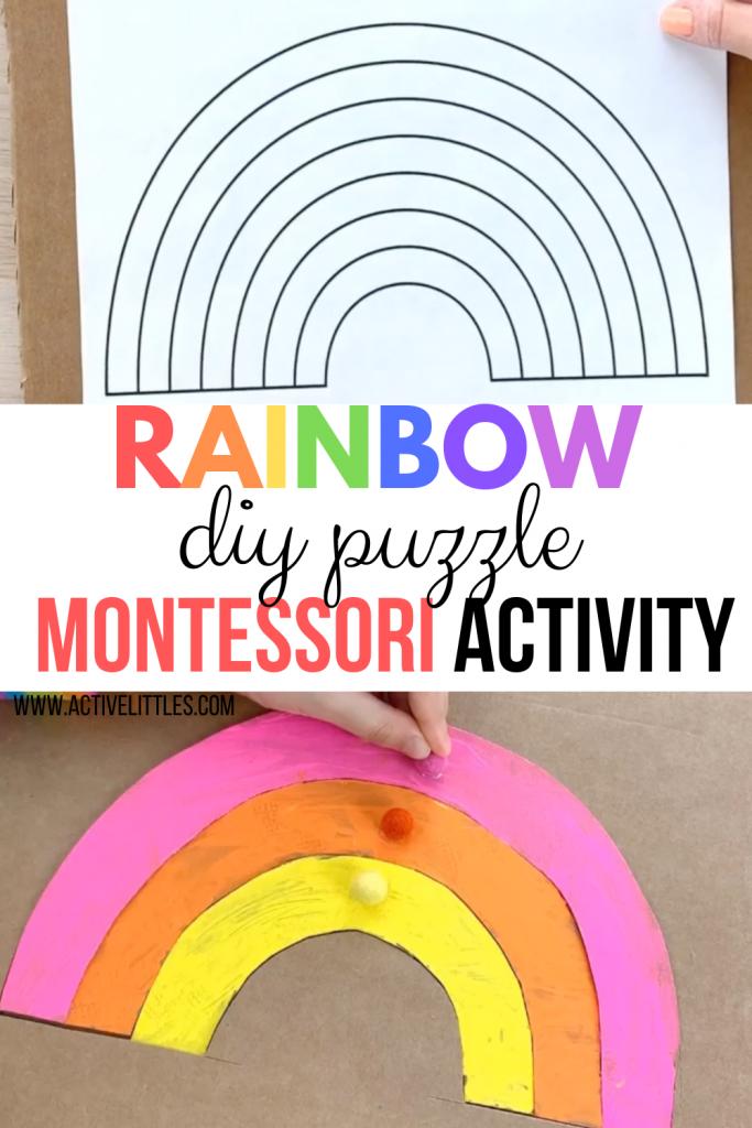 rainbow cardboard cutout recycled play activity