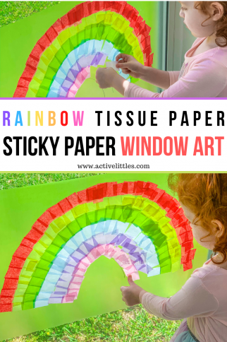 Rainbow Tissue Paper Contact Paper Window Art