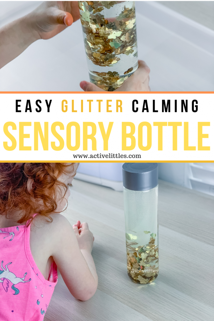 simple glitter calm down sensory bottle