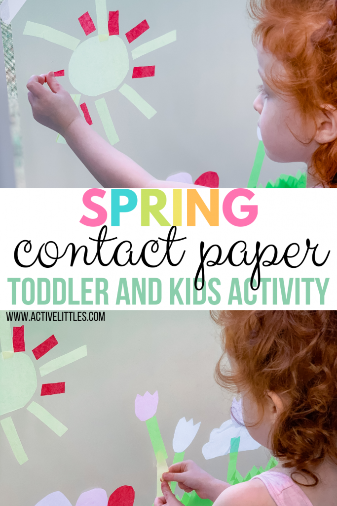 spring contact paper kids activity