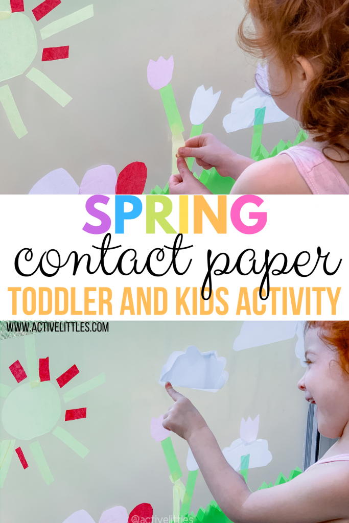 spring contact paper toddler and kids activity