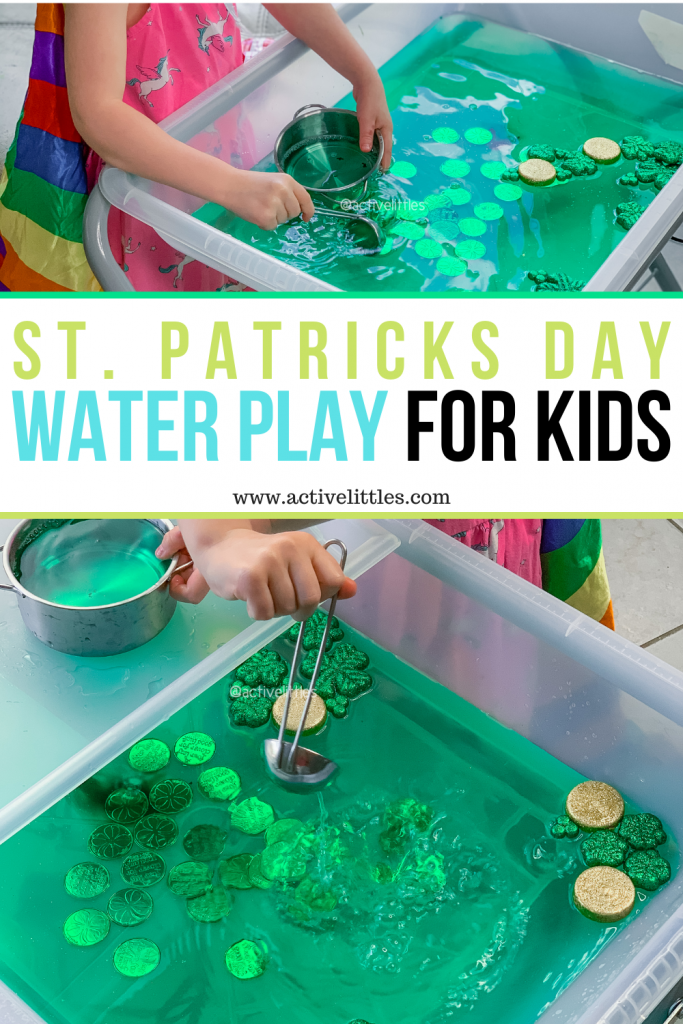 st. patricks day water play activity