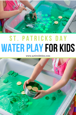St. Patricks Day Water Play for Kids