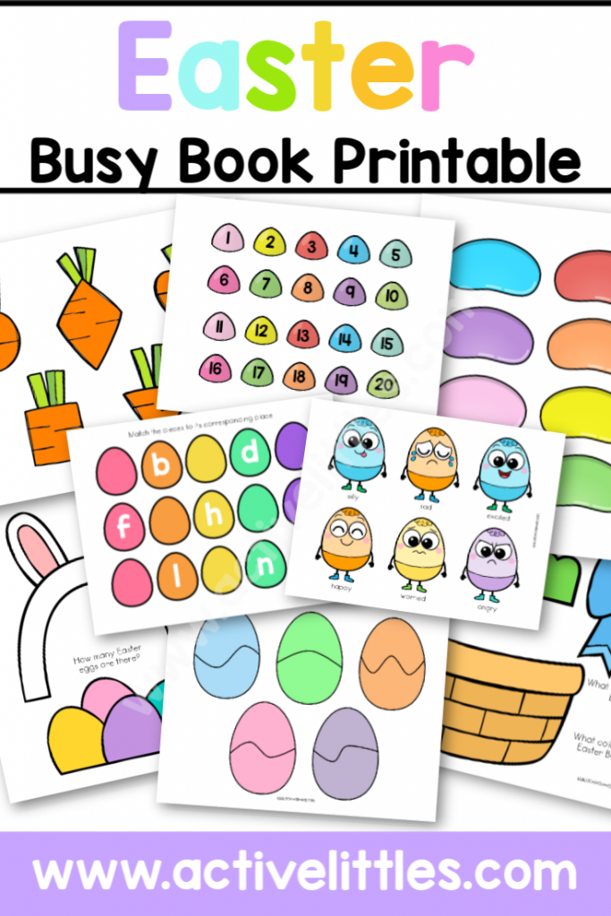 Easter Busy Book Printable - Active Littles-2