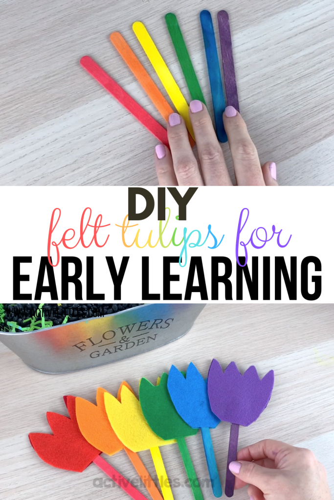 diy early learning spring flowers using felt