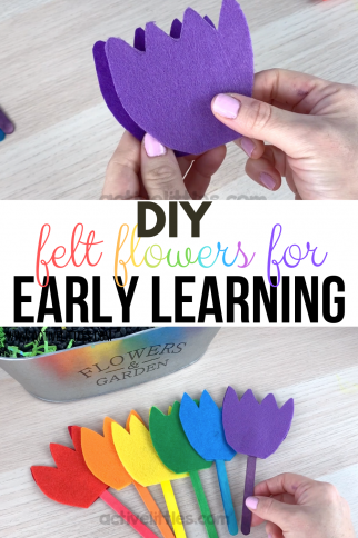 DIY Felt Flowers for Early Learning