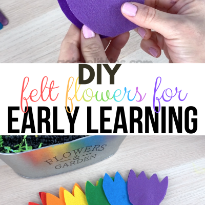 diy felt flowers for learning about colors