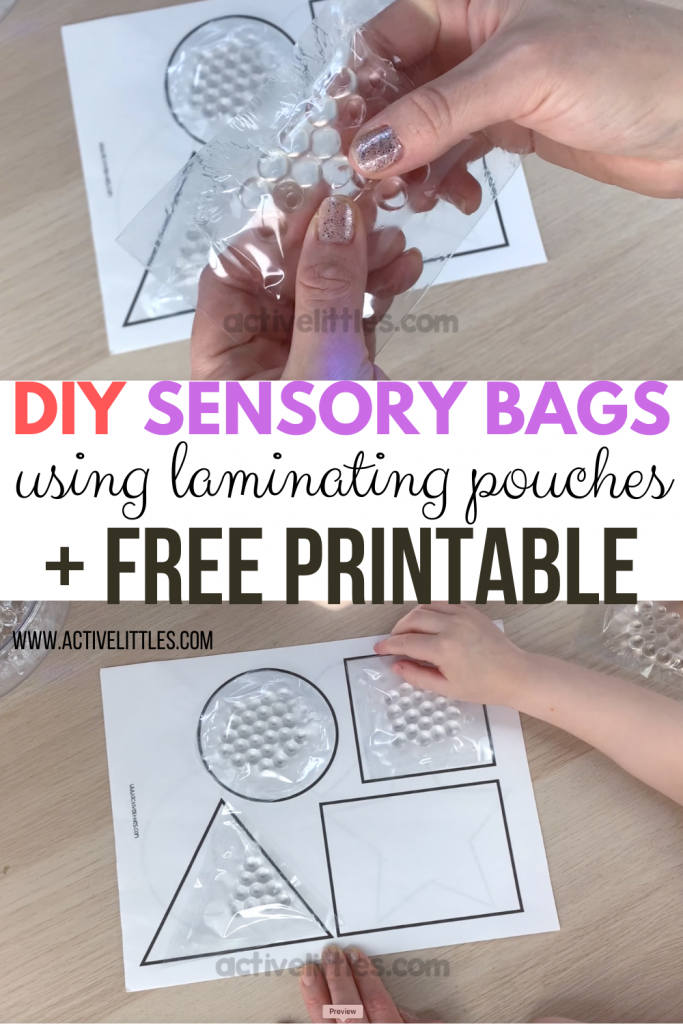 diy sensory bag with free printable