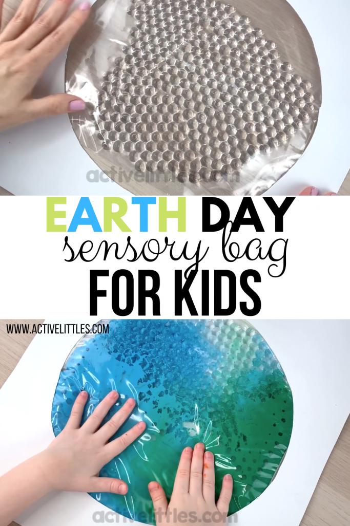 earth day sensory bag for kids