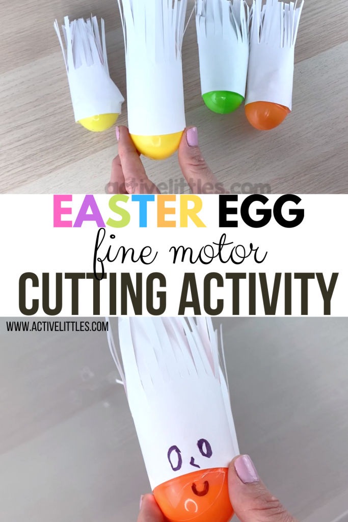easter fine motor cutting activity