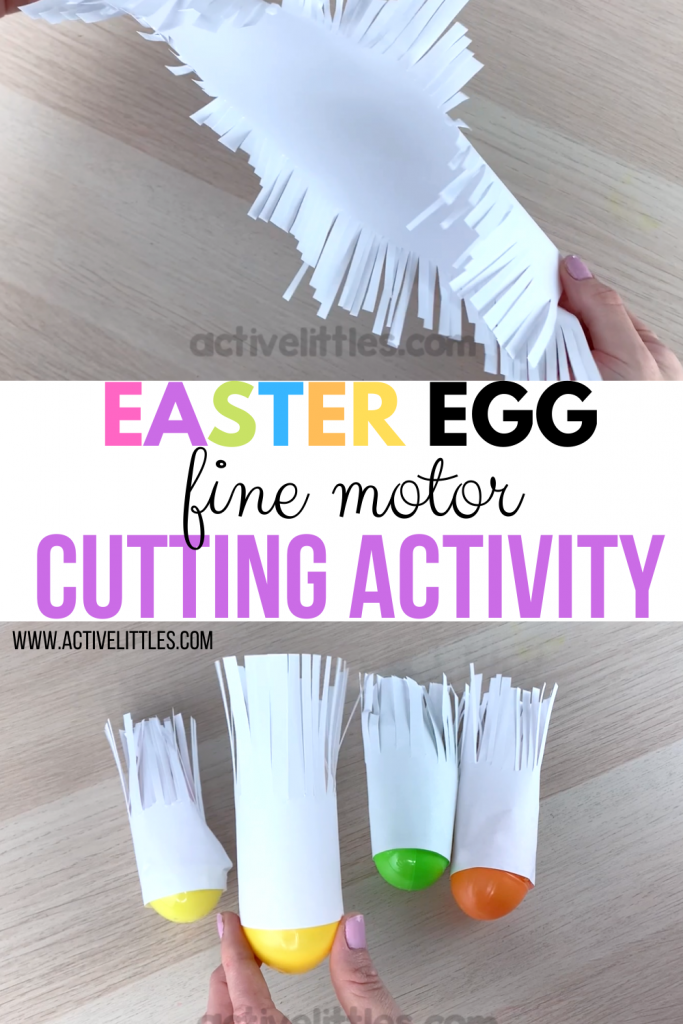 fine motor cutting activity for easter