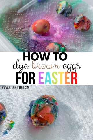 Can you dye brown eggs for Easter?