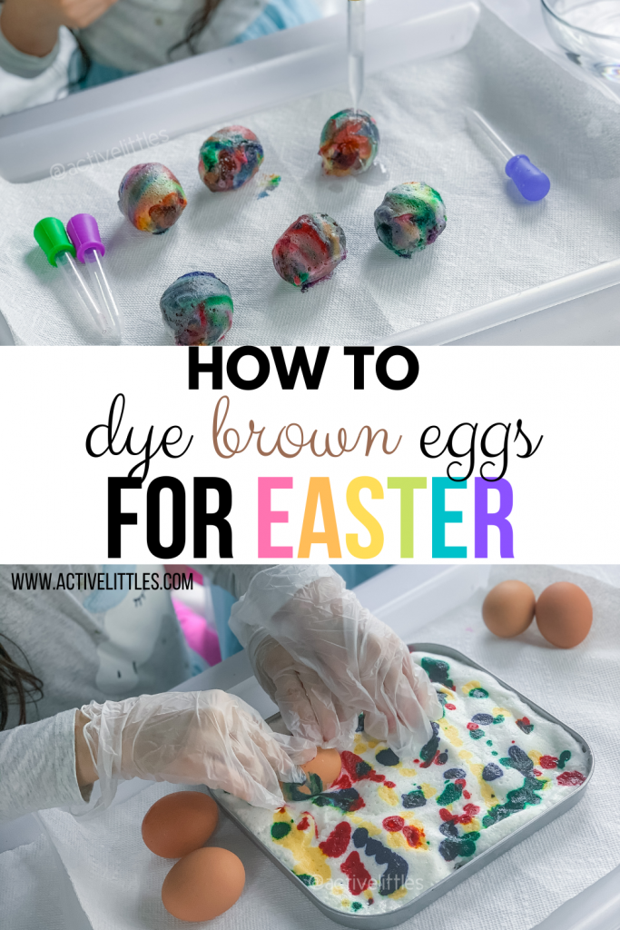how to dye brown eggs for Easter