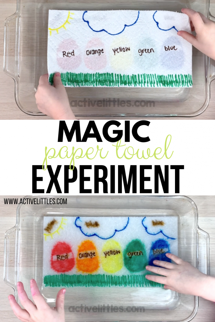 magic paper towel experiment for kids