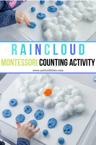 Rain Cloud Montessori Activities for Preschool