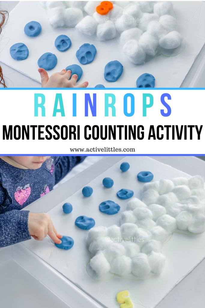 raincloud montessori activity for kids