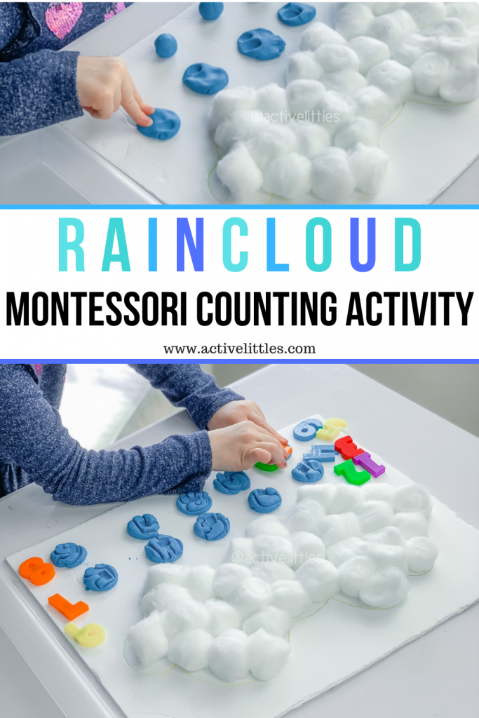 raindrop montessori counting activity