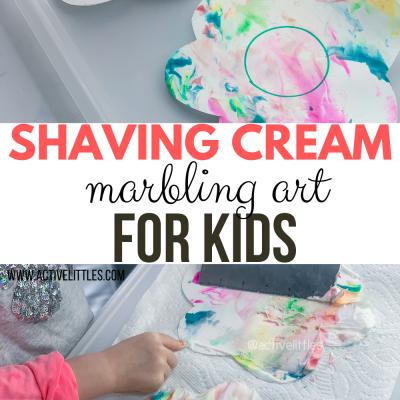 shaving cream marble art for spring